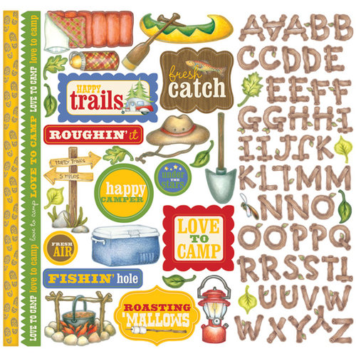 Creative Imaginations - Happy Camper Collection - 12 x 12 Cardstock Stickers
