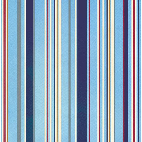 Creative Imaginations - Crusin Collection - 12 x 12 Paper - Marine Stripe