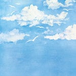 Creative Imaginations - Crusin Collection - 12 x 12 Paper - Seagull Sky