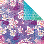 Creative Imaginations - Sakura Collection - 12 x 12 Double Sided Paper - Blooming