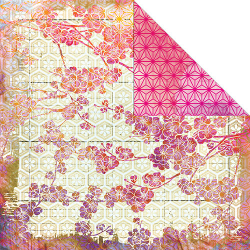 Creative Imaginations - Sakura Collection - 12 x 12 Double Sided Paper - Spring