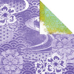 Creative Imaginations - Sakura Collection - 12 x 12 Double Sided Paper - Breeze