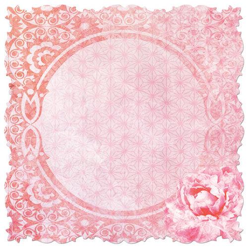 Creative Imaginations - Sakura Collection - 12 x 12 Die Cut Paper - Lovely Lantern