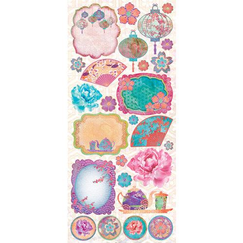 Creative Imaginations - Sakura Collection - Cardstock Stickers - Sakura