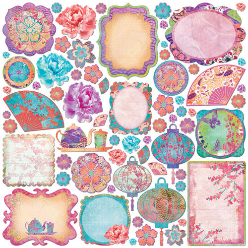 Creative Imaginations - Sakura Collection - Die Cut Pieces - Sakura Shapes