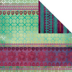 Creative Imaginations - Marrakesh Collection - 12 x 12 Double Sided Paper - Marrakesh