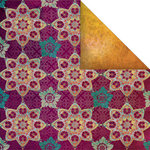 Creative Imaginations - Marrakesh Collection - 12 x 12 Double Sided Paper - Cinnamon