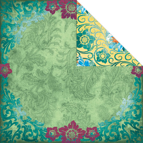 Creative Imaginations - Marrakesh Collection - 12 x 12 Double Sided Paper - Lotus