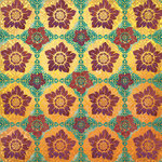 Creative Imaginations - Marrakesh Collection - 12 x 12 Paper with Foil Accents - New Delhi