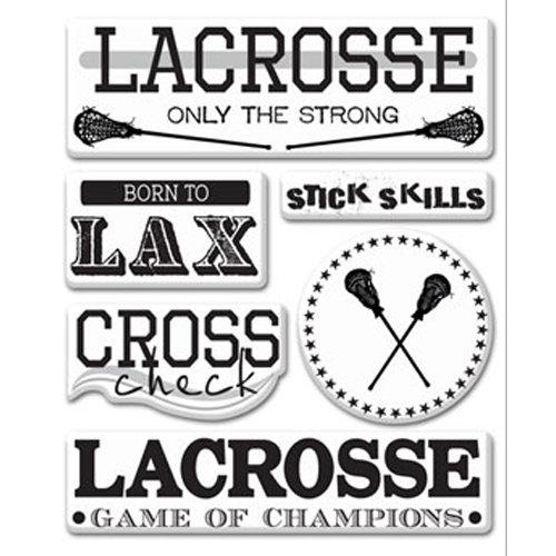 Creative Imaginations - Lacrosse Collection - Epoxy Stickers - Lacrosse