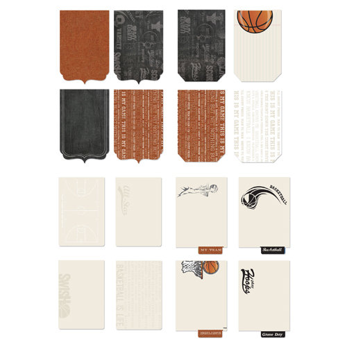 Creative Imaginations - Art Warehouse by Danelle Johnson - Swish Line Collection - Die Cut Journaling Pad - Basketball