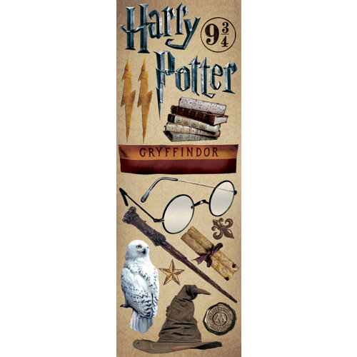 Creative Imaginations - Harry Potter Collection - Cardstock Stickers - Gryffindor