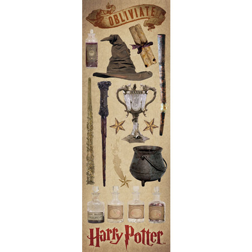 Creative Imaginations - Harry Potter Collection - Cardstock Stickers - Wizard