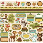 Creative Imaginations - Forest Critters Collection - 12 x 12 Cardstock Stickers - Forest Critters