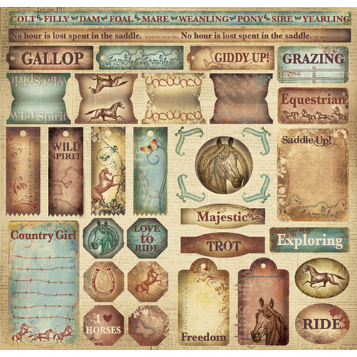 Creative Imaginations - Wild Spirit Collection - 12 x 12 Cardstock Stickers - Wild Spirit