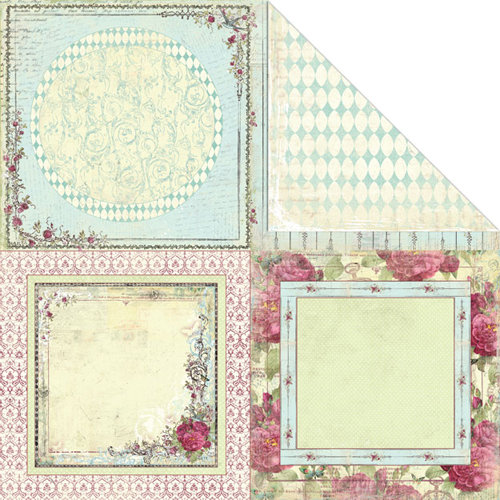 Creative Imaginations - Provencial Collection - 12 x 12 Double Sided Paper - Provencial Frames