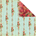 Creative Imaginations - Devotion Collection - 12 x 12 Double Sided Paper - Rose Vine