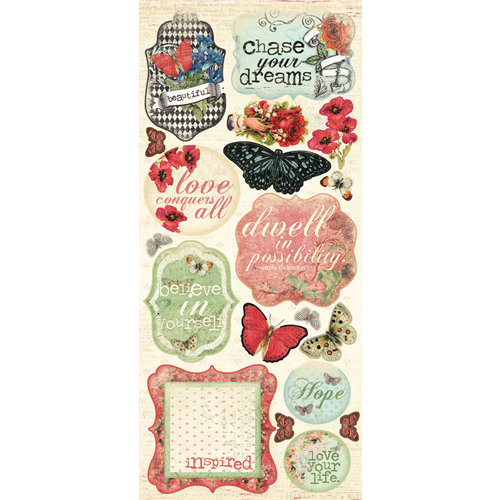 Creative Imaginations - Devotion Collection - Cardstock Stickers - Devotion