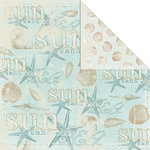 Creative Imaginations - Beach Cottage Collection - 12 x 12 Double Sided Paper - Sun and Sea