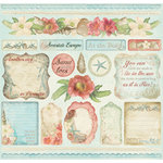 Creative Imaginations - Beach Cottage Collection - 12 x 12 Cardstock Stickers - Beach Cottage
