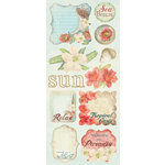 Creative Imaginations - Beach Cottage Collection - Cardstock Stickers - Beach Cottage