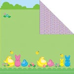 Creative Imaginations - Peeps Collection - 12 x 12 Double Sided Paper - Peeps Hanging Out