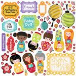 Creative Imaginations - Kokeshi Collection - Die Cut Pieces - Kokeshi Shapes