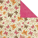 Creative Imaginations - Blossom Collection - 12 x 12 Double Sided Paper - Flutter