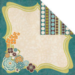 Creative Imaginations - Blossom Collection - 12 x 12 Double Sided Paper - Blossom Frame