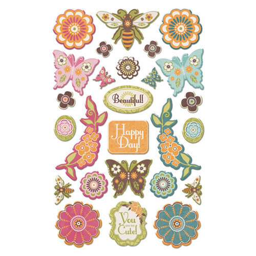 Creative Imaginations - Blossom Collection - Epoxy Stickers - Blossom