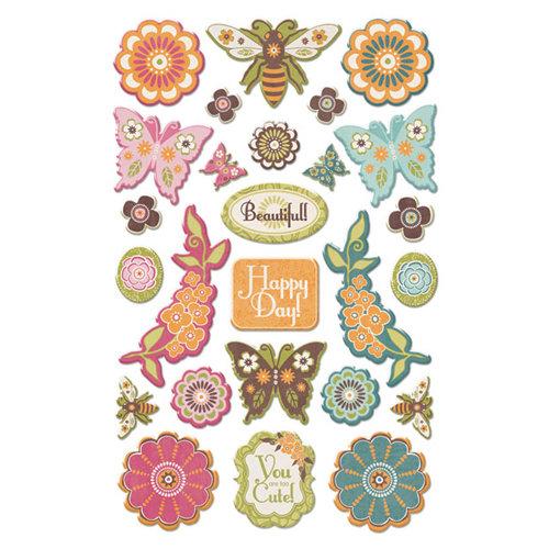Creative Imaginations - Blossom Collection - Epoxy Stickers - Blossom