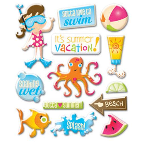 Creative Imaginations - Splish Splash Collection - Epoxy Stickers - Splish Splash