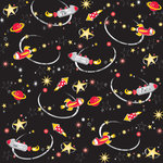 Creative Imaginations - Magic Attractions Collection - 12 x 12 Paper with Foil Accents - Rockets