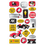 Creative Imaginations - Magic Attractions Collection - Epoxy Stickers with Foil Accents - Magic Attractions