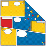 Creative Imaginations - Super Hero Collection - 12 x 12 Double Sided Paper - Comic Book