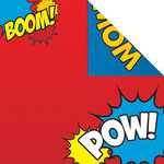 Creative Imaginations - Super Hero Collection - 12 x 12 Double Sided Paper - POW