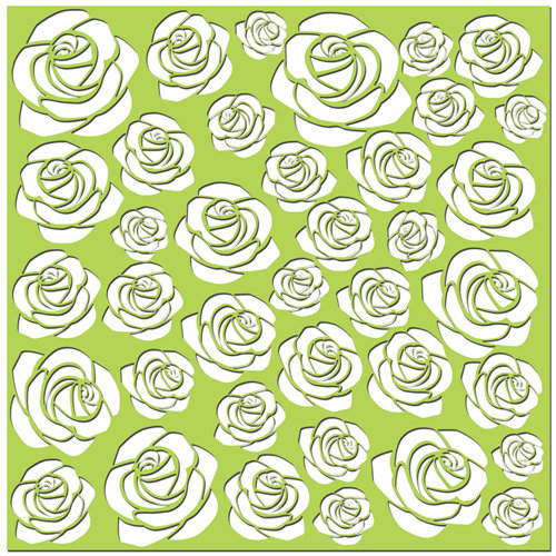 Creative Imaginations - Existencil Expressions Collection - 12 x 12 Stencil Sheet - Floral