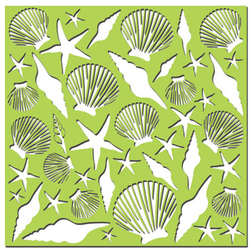 Creative Imaginations - Existencil Expressions Collection - 6 x 6 Stencil Sheet - Oceana