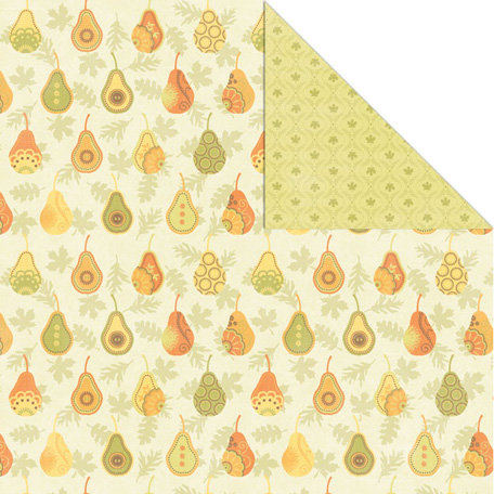 Creative Imaginations - Orchard Harvest Collection - 12 x 12 Double Sided Paper - Pear Harvest