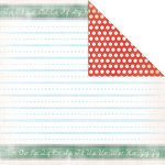 Creative Imaginations - A to Z Collection - 12 x 12 Double Sided Paper - Writing