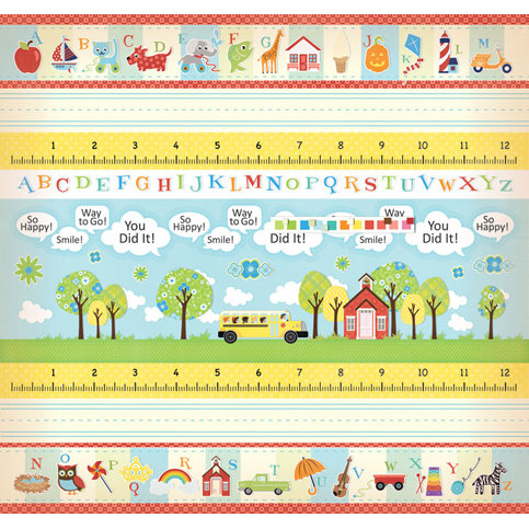 Creative Imaginations - A to Z Collection - 12 x 12 Cardstock Stickers - A to Z Border