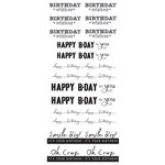 Creative Imaginations - Art Warehouse by Danelle Johnson - Simply Sentiments Collection - Clear Stickers - Birthday