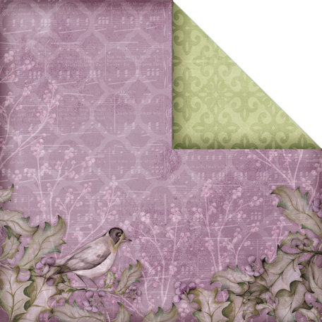 Creative Imaginations - Winter Song Collection - 12 x 12 Double Sided Paper - Songbird
