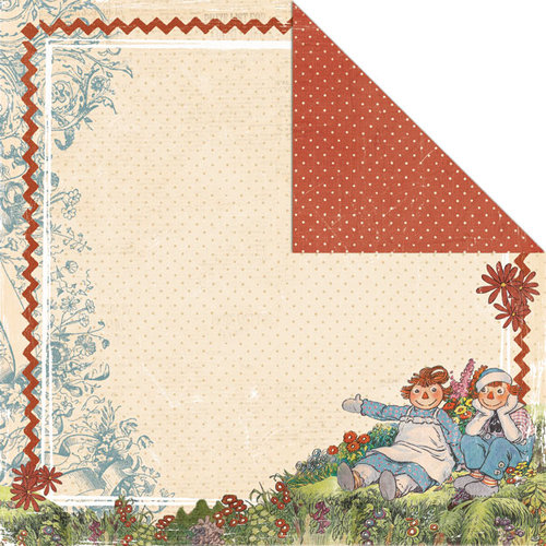Creative Imaginations - Ragamuffin Collection - 12 x 12 Double Sided Paper - Ragamuffin