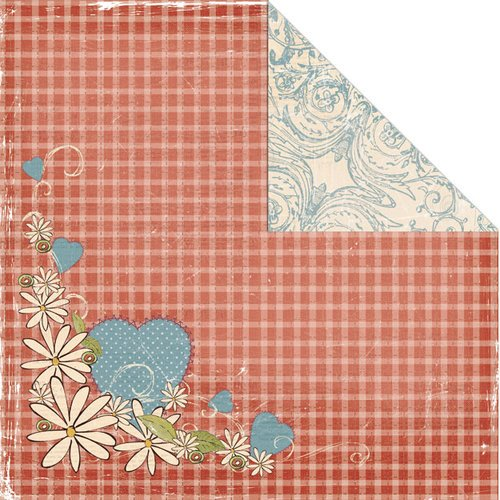 Creative Imaginations - Ragamuffin Collection - 12 x 12 Double Sided Paper - Daises