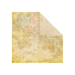 Creative Imaginations - Old World Travel Collection - 12 x 12 Double Sided Paper - World Atlas