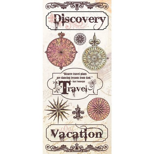 Creative Imaginations - Old World Travel Collection - Cardstock Stickers - Old World Travel