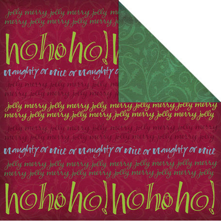 Creative Imaginations - Tidings of Joy Collection - Christmas - 12 x 12 Double Sided Paper - Joy Stripe