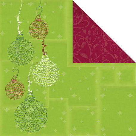Creative Imaginations - Tidings of Joy Collection - Christmas - 12 x 12 Double Sided Paper - Deck the Halls