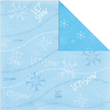 Creative Imaginations - Tidings of Joy Collection - Christmas - 12 x 12 Double Sided Paper - Let it Snow